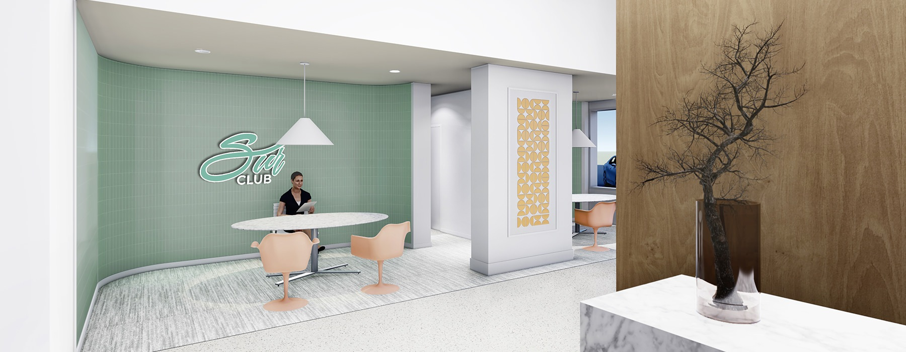 rendering of leasing office