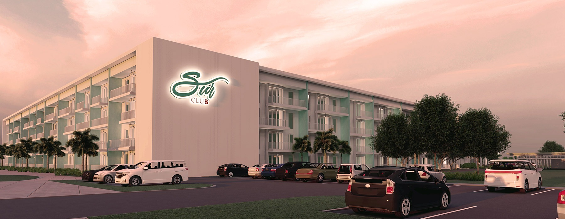 side view rendering of Sur Club